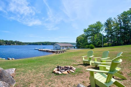 Restored Boathouse Studios on the LaHave River