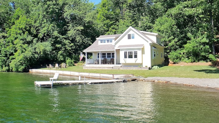 CRANE COVE Enjoy 125' of Gorgeous Waterfront, Large Level Yard, 32' Dock, Shale Beach, Wade-in