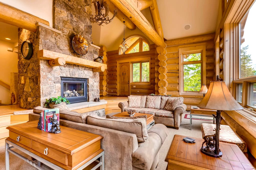 features gas fireplace and big views