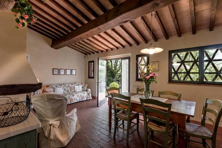 Cottage nella campagna toscana  di San Gimignano.