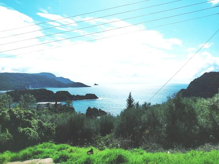 Studio with sea view for 2pax-palaiokastritsa