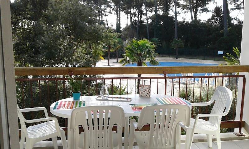 T2 ONDRES PLAGE avec piscine et tennis - Ondres - Apartamento