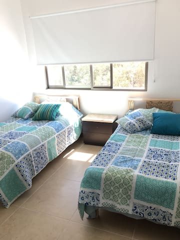 Room w 2 beds, pool security 24h, Air condiotioned - Cancún - Apartment