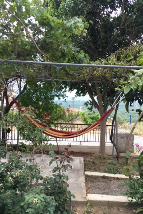 Enjoy the hammock in the garden