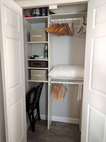 Storage. And hangers!