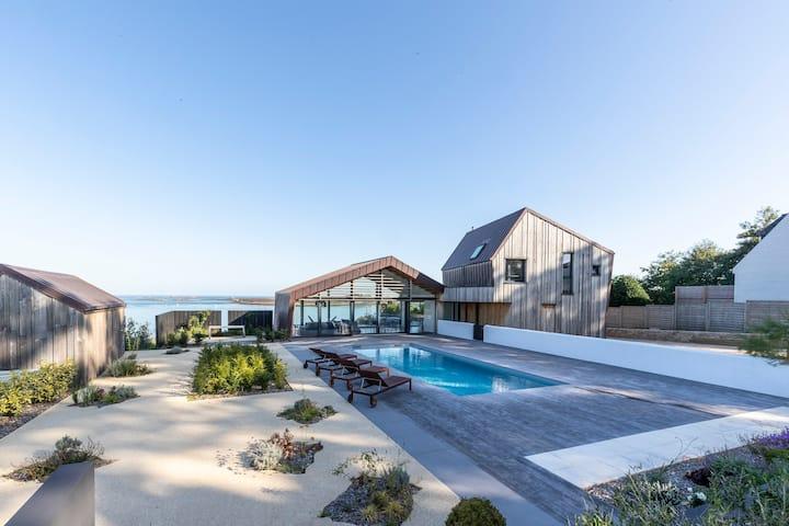 Front de mer, vue exceptionnelle, piscine, jacuzzi