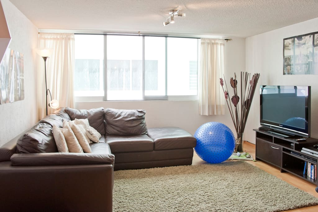 Living room with TV and HD Cable, Play Station 4, Netflix/ Sala con TV, Cable HD, Play Station 4, Netflix
