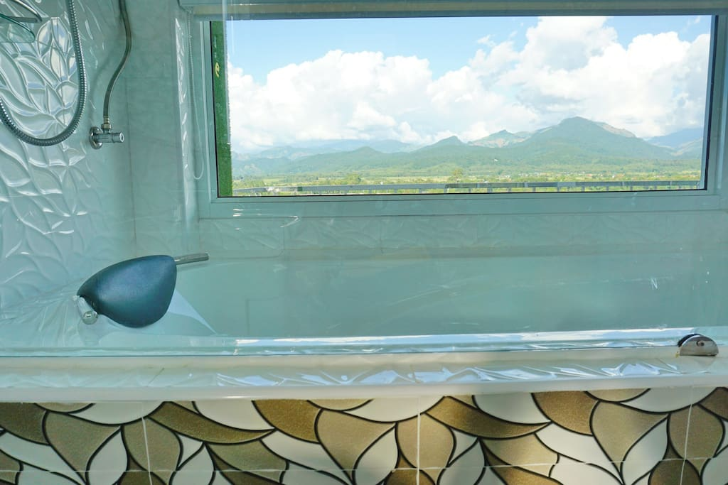 ฺBathtub with mountain view