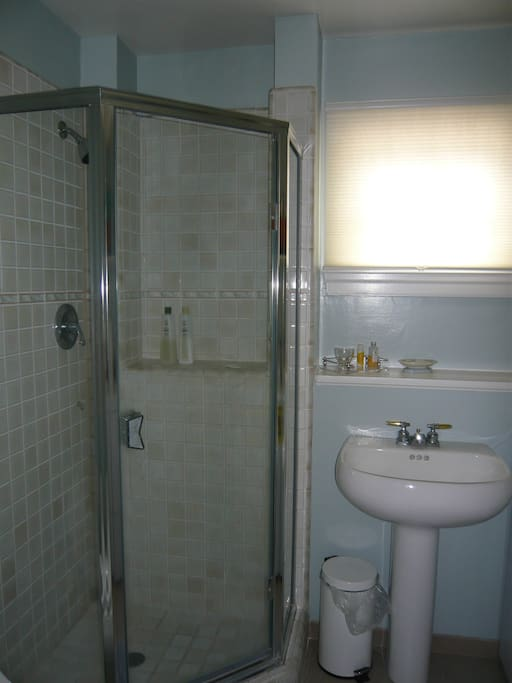 Private shower/bathroom.  Washer/dryer are located in this bathroom.