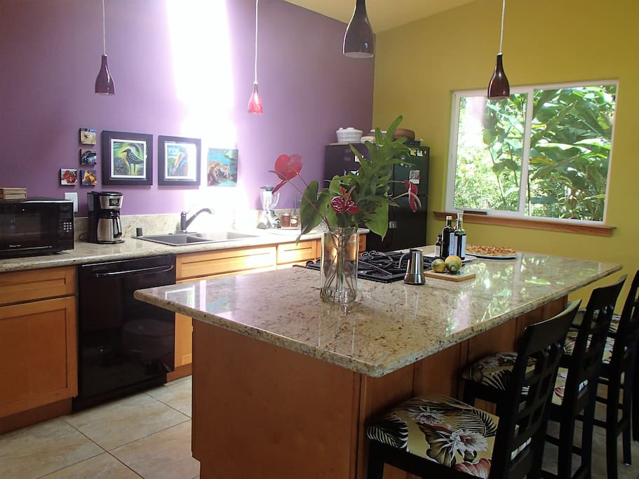 Enjoy cooking for the gang in the large, well-equipped kitchen, with gas range, microwave, blender, and coffee maker.