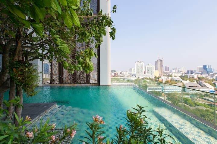 Designer loft +green view @tonglor - Bangkok - Departamento