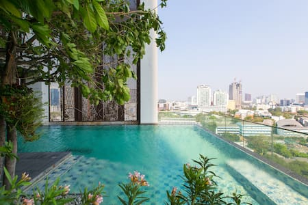 Designer loft +green view @tonglor - Bangkok - Daire