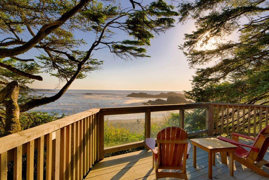 Sit on your private deck and soak in Ucluelet's coastal scenery