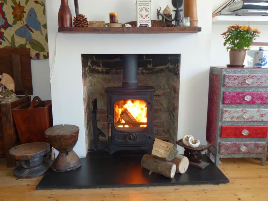 Our woodburner is perfect for roasting chestnuts