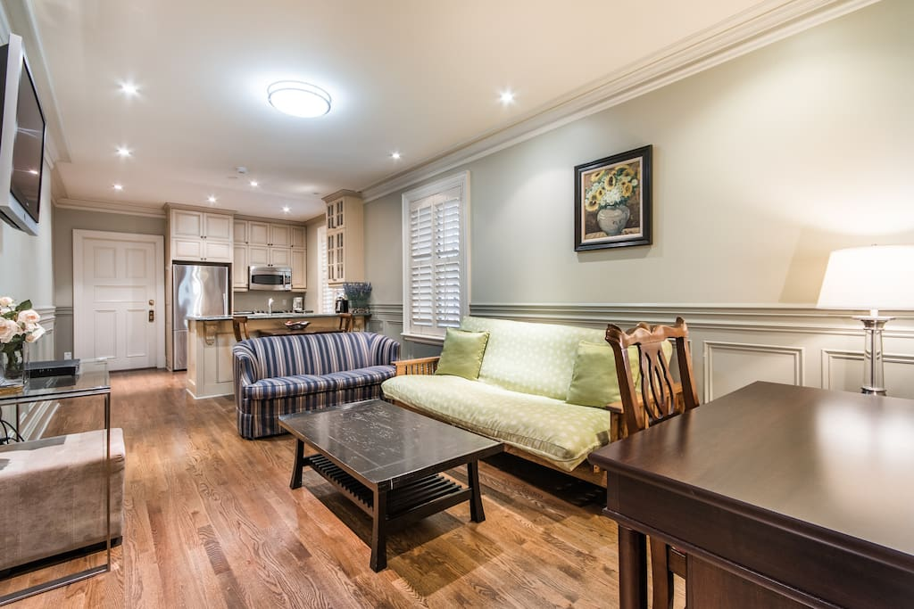 Large spacious kitchen, living room, office