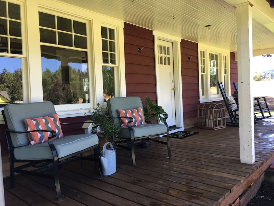 Cozy front porch