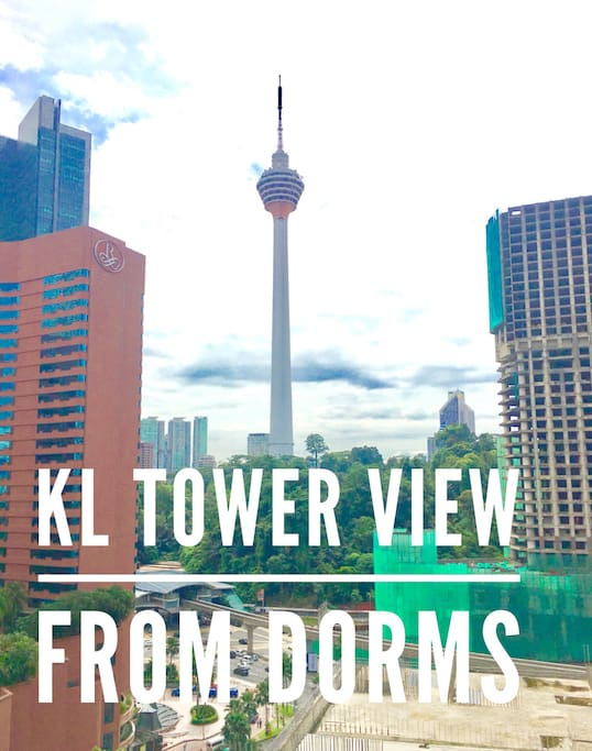 KL tower view from our balcony