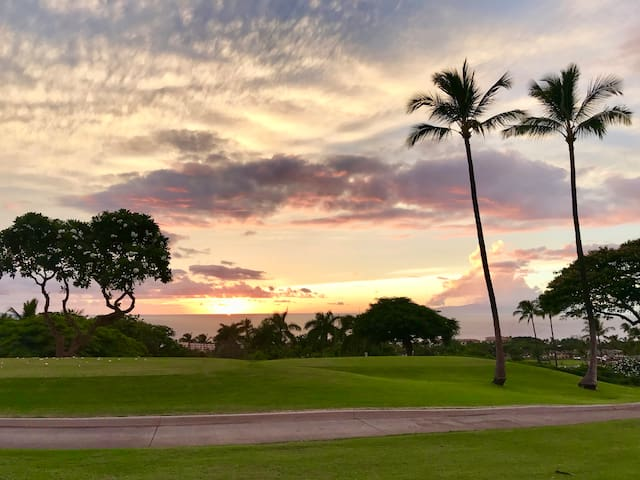View from Wailea Blue Golf Coarse