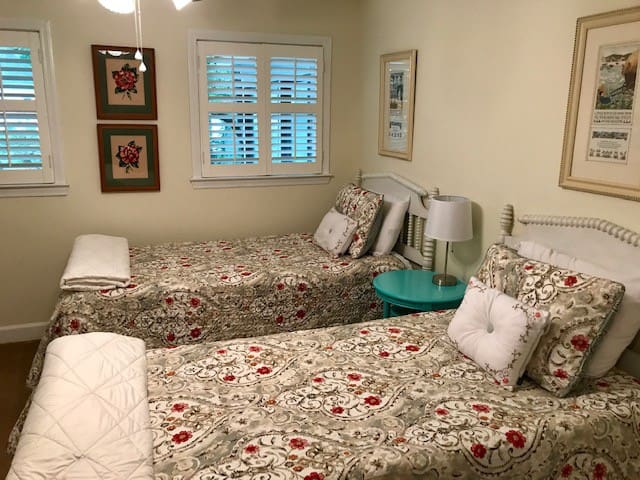 If you need an additional room, I have a twin-bed room available also.