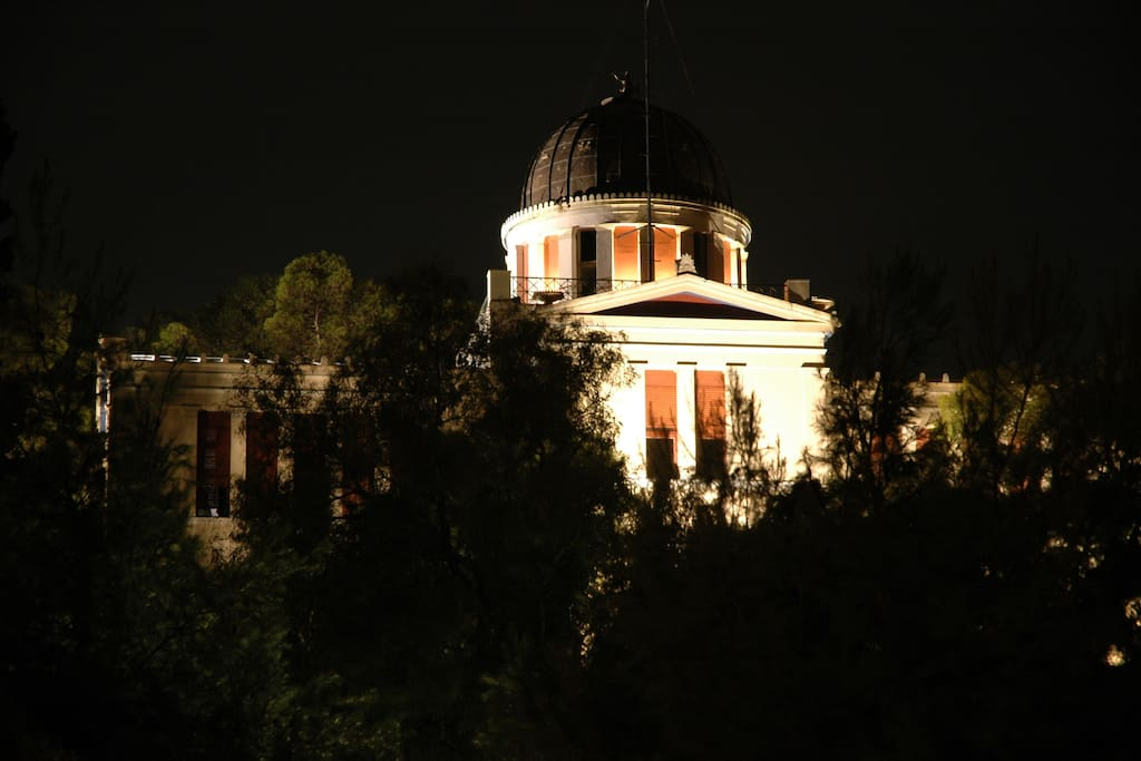 Athens Observatory view from the terrace
