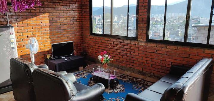 Full floor apartment, top terrace, large lake view