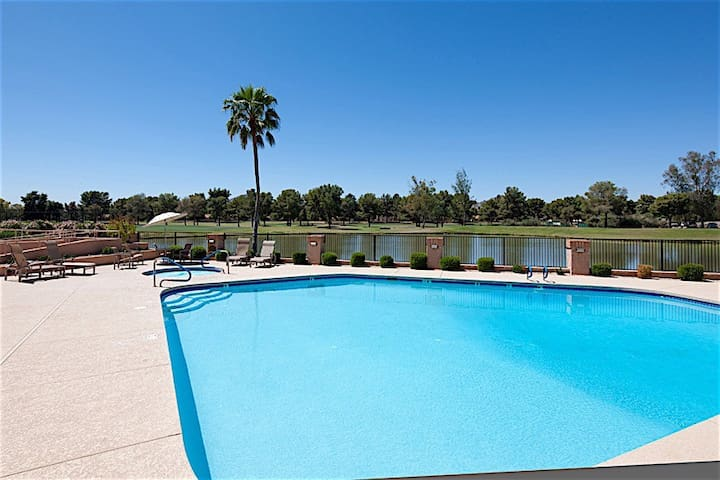 Single level home in the exclusive McCormick Ranch area 2 Bed 2 Bath w/Garage