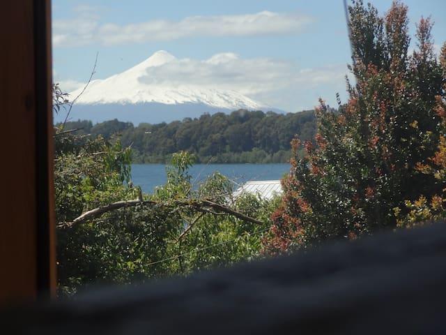 Vista volcan Osorno y Lago Llanquihue