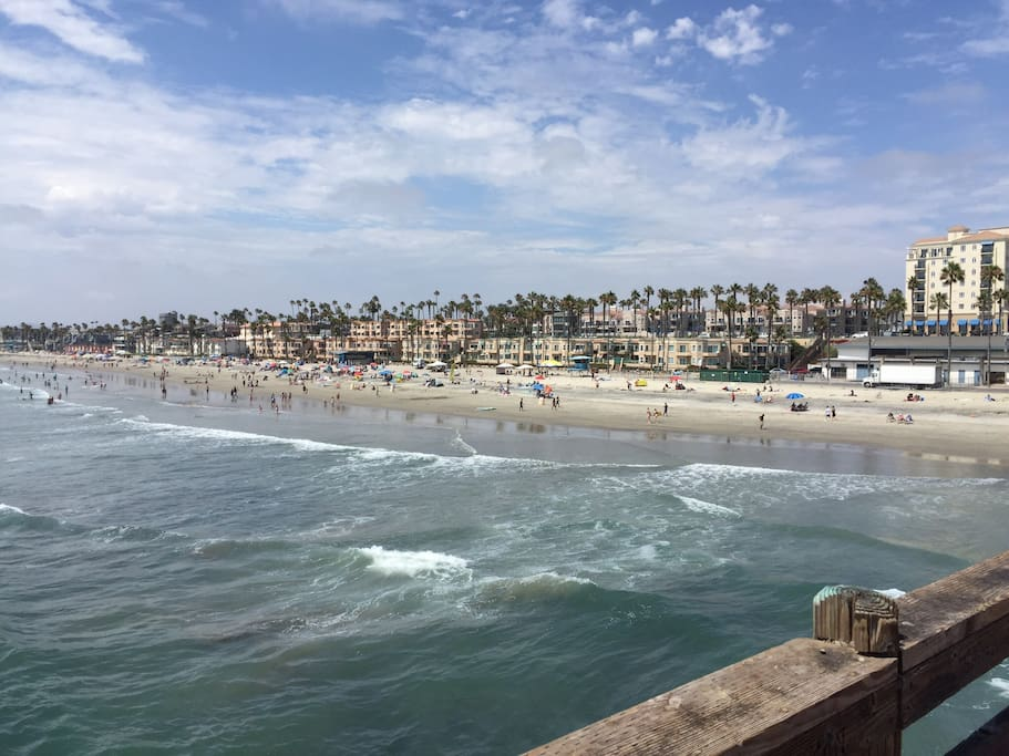 Oceanside beach north of the Pier