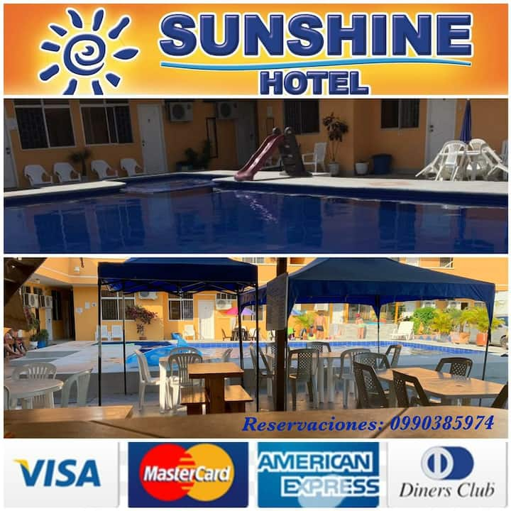 Hotel Sunshine Tonsupa habitación matrimonial