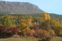 couleurs d'automne sur la montagne de Beynes