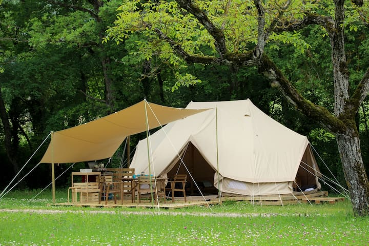 Tente Lodge Safari 2/4 personnes - Recoubeau-Jansac - Tenda