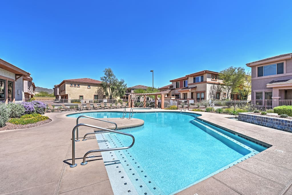 A memorable vacation awaits you at this Anthem vacation rental townhome.