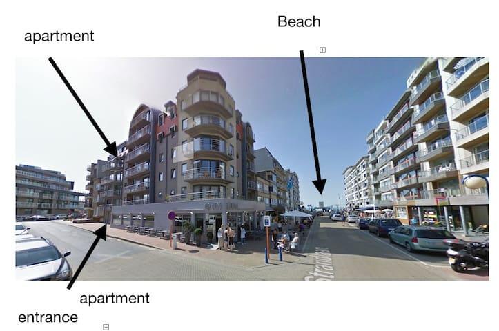 Cosy App, 50 m from the beach & nearby Plopsa - Koksijde Sint-Idesbald  - Lakás