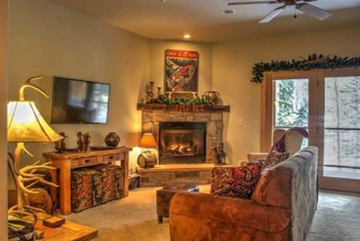 Living Area, warm and rustic