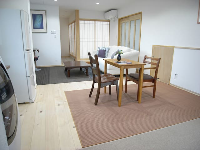A condo Ruska, 52㎡. Relax with a warmth of wood.