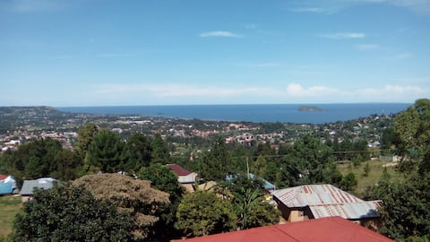 House with beautiful view of Bukoba and Lake