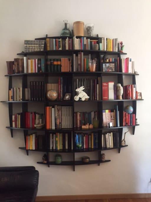 la libreria del soggiorno