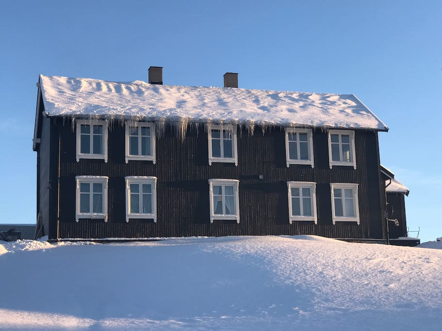 This is the house as it looks from the road.