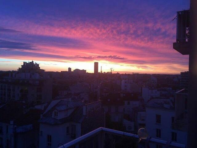T1 Butte aux Cailles 32m2 + Balcon vue Tour Eiffel