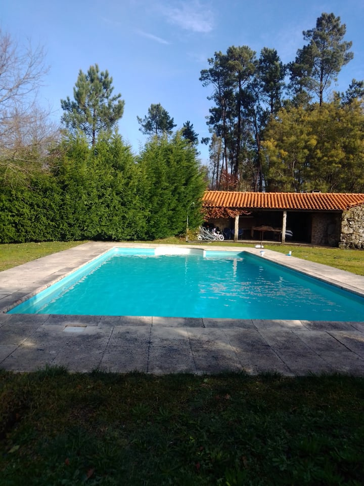 Villa with 7 bedrooms in Mentrestido, with private pool, enclosed garden and WiFi - 11 km from the beach