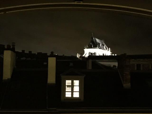 Vue de nuit depuis le salon Nightview from the living room