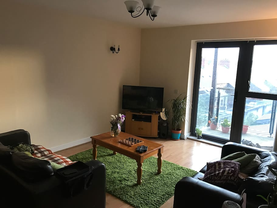 Living room with double sofa bed. 1/2