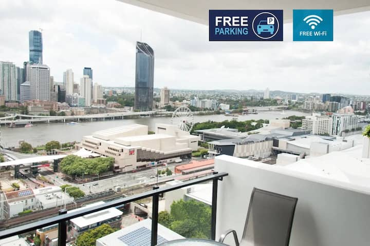 South Brisbane Lux City View Apt free Wifi&Parking