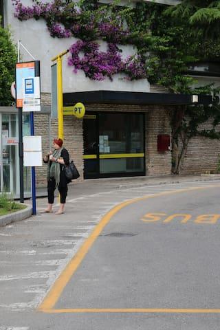 Fermata del bus navetta Center Shuttle bus stop