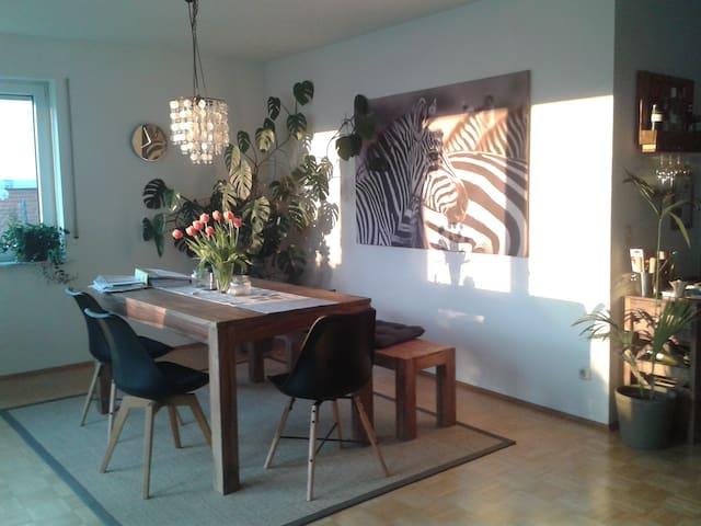 Helles Zimmer mit Terrasse in 110 m²-Wohnung - Koblenz - Apartment