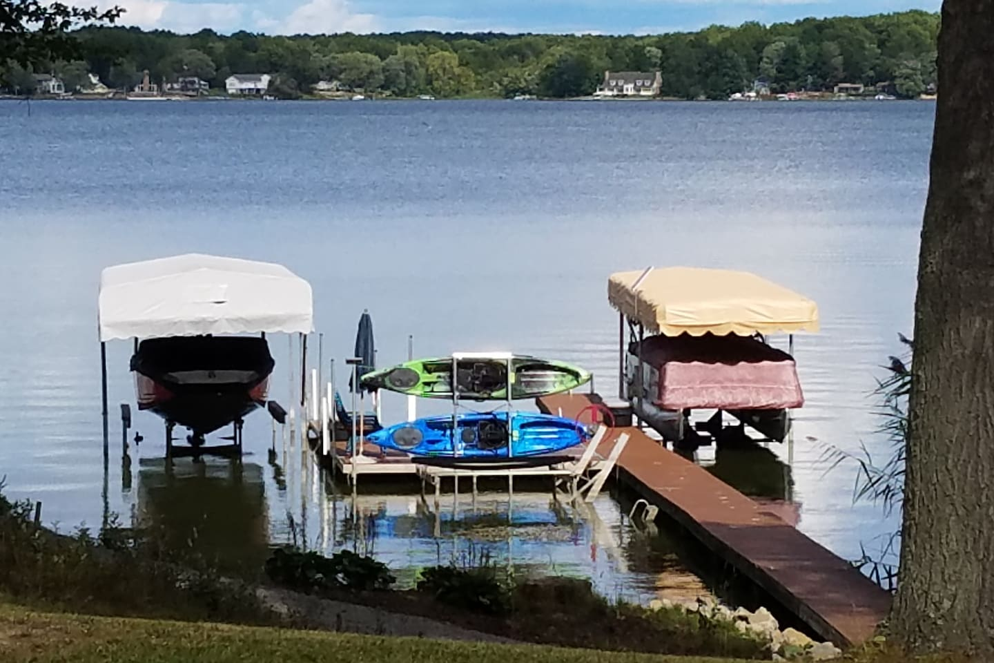 This is our private dock.  If you have a boat and want to bring it we have space on our dock for an. (additional fee)