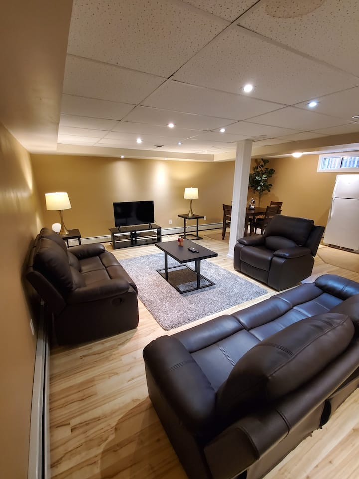 Cozy, comfy suite basement near Hospital