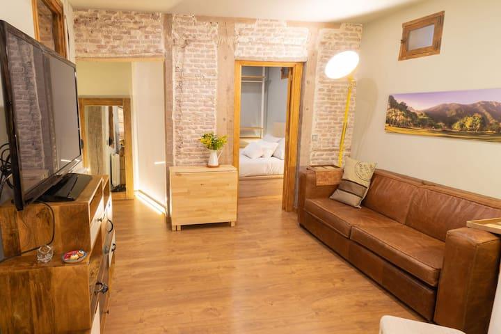Acogedor y chic apartamento en la latina, Madrid.