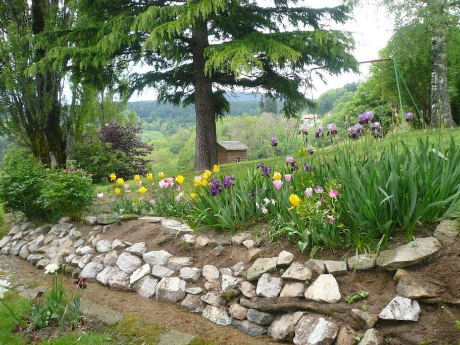 Le jardin est accessible.