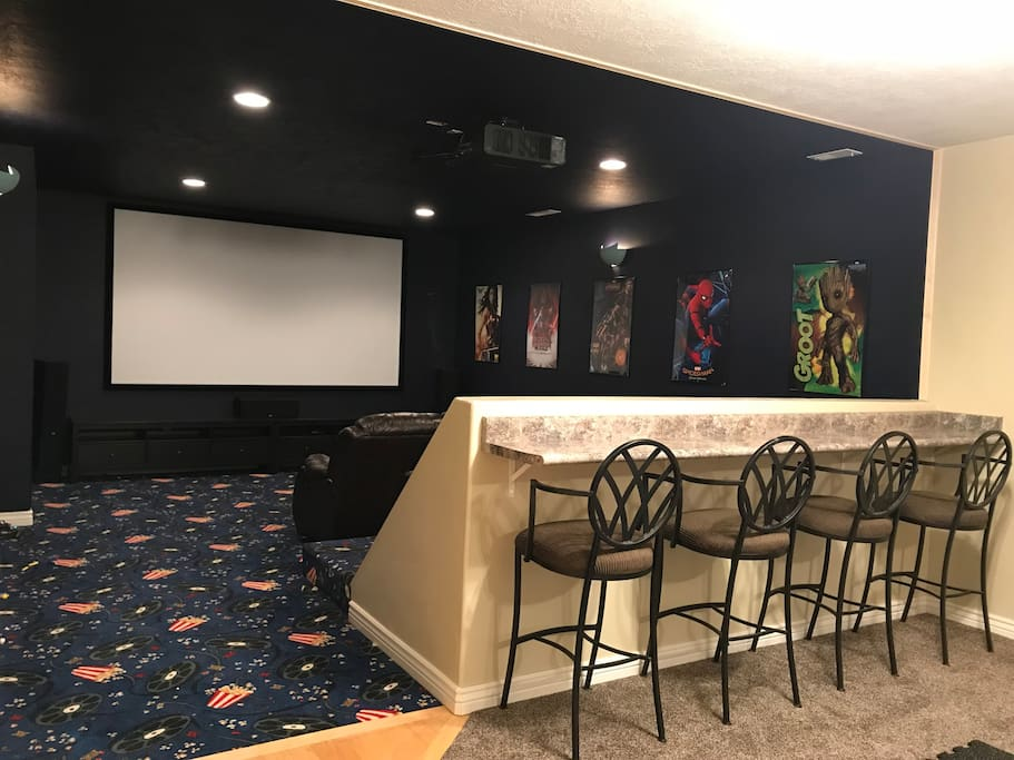 Home theater with laser projector